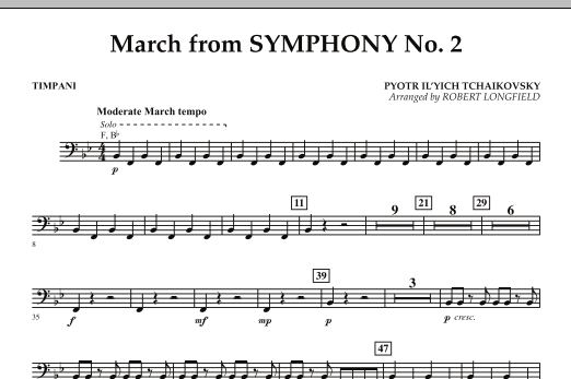 March from Symphony No. 2 - Timpani (Concert Band)