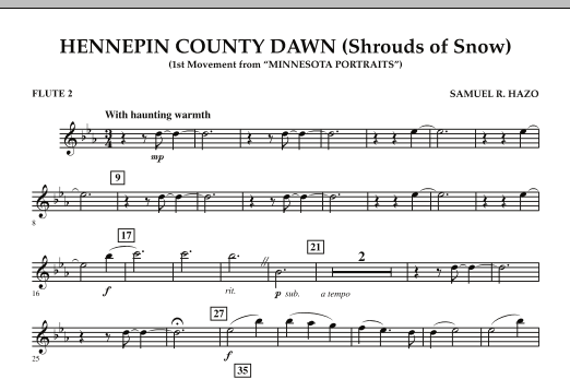 Hennepin County Dawn (Mvt. 1 of Minnesota Portraits) - Flute 2 (Concert Band)