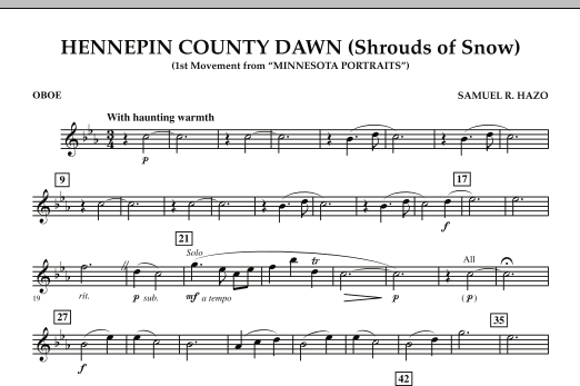 Hennepin County Dawn (Mvt. 1 of Minnesota Portraits) - Oboe (Concert Band)