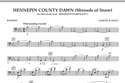 Hennepin County Dawn (Mvt. 1 of Minnesota Portraits) - Bassoon (Concert Band)