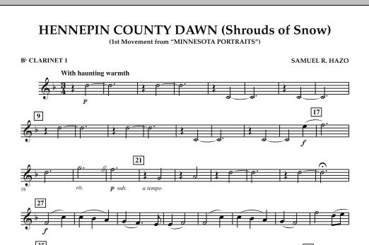 Hennepin County Dawn (Mvt. 1 of Minnesota Portraits) - Bb Clarinet 1 (Concert Band)