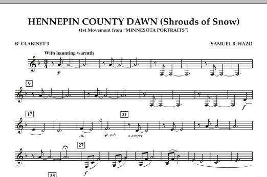 Hennepin County Dawn (Mvt. 1 of Minnesota Portraits) - Bb Clarinet 3 (Concert Band)