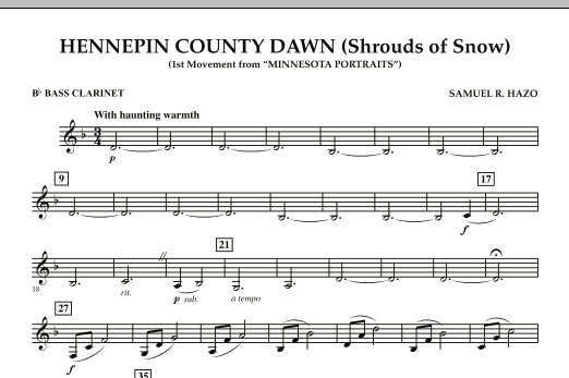 Hennepin County Dawn (Mvt. 1 of Minnesota Portraits) - Bb Bass Clarinet (Concert Band)
