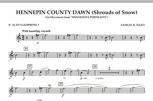 Hennepin County Dawn (Mvt. 1 of Minnesota Portraits) - Eb Alto Saxophone 1 (Concert Band)