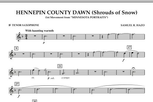 Hennepin County Dawn (Mvt. 1 of Minnesota Portraits) - Bb Tenor Saxophone (Concert Band)