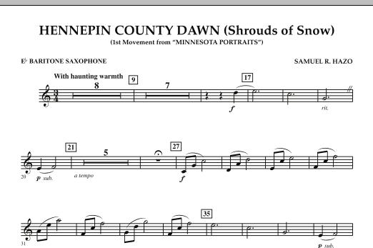 Hennepin County Dawn (Mvt. 1 of Minnesota Portraits) - Eb Baritone Saxophone (Concert Band)