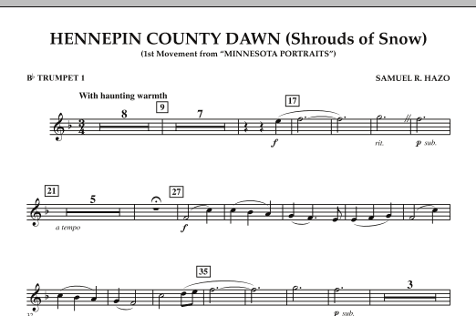 Hennepin County Dawn (Mvt. 1 of Minnesota Portraits) - Bb Trumpet 1 (Concert Band)