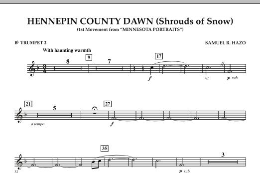 Hennepin County Dawn (Mvt. 1 of Minnesota Portraits) - Bb Trumpet 2 (Concert Band)