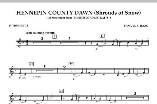 Hennepin County Dawn (Mvt. 1 of Minnesota Portraits) - Bb Trumpet 3 (Concert Band)