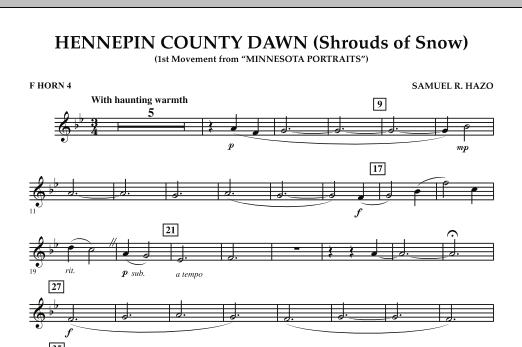 Hennepin County Dawn (Mvt. 1 of Minnesota Portraits) - F Horn 4 (Concert Band)