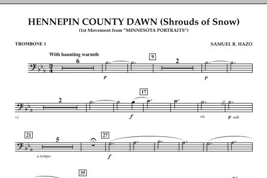 Hennepin County Dawn (Mvt. 1 of Minnesota Portraits) - Trombone 1 (Concert Band)