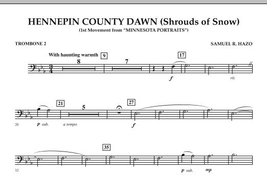 Hennepin County Dawn (Mvt. 1 of Minnesota Portraits) - Trombone 2 (Concert Band)