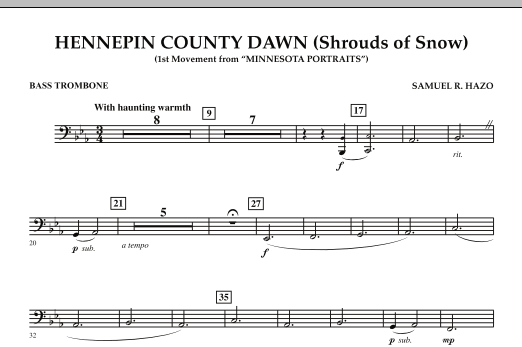 Hennepin County Dawn (Mvt. 1 of Minnesota Portraits) - Bass Trombone (Concert Band)