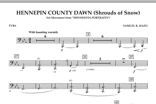 Hennepin County Dawn (Mvt. 1 of Minnesota Portraits) - Tuba (Concert Band)