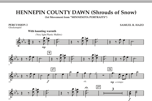 Hennepin County Dawn (Mvt. 1 of Minnesota Portraits) - Percussion 2 (Concert Band)