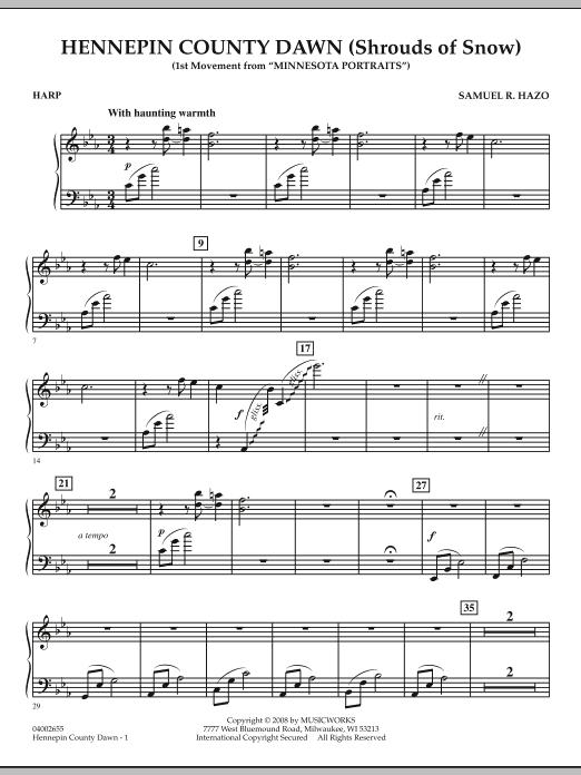 Hennepin County Dawn (Mvt. 1 of Minnesota Portraits) - Harp (Concert Band)