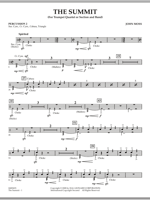 The Summit - Percussion 2 (Concert Band)
