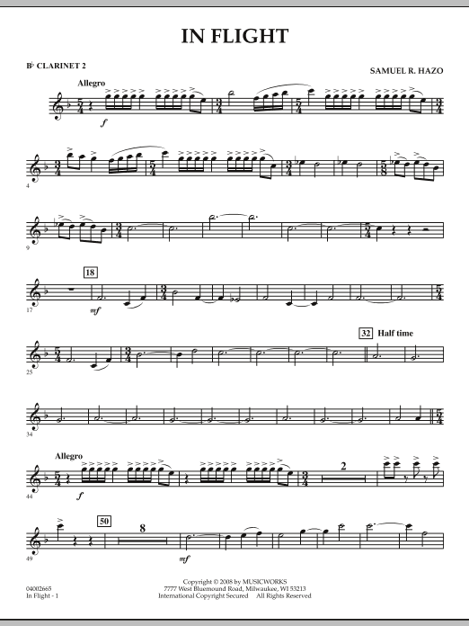 In Flight - Bb Clarinet 2 (Concert Band)