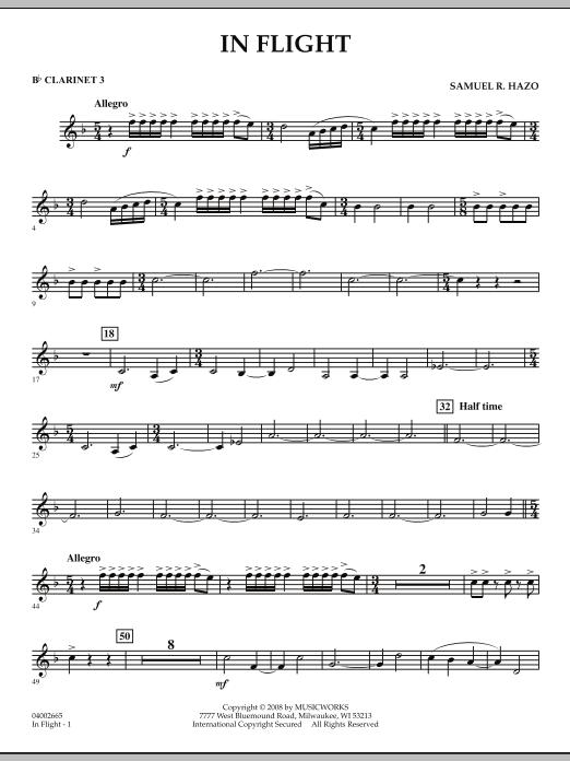 In Flight - Bb Clarinet 3 (Concert Band)