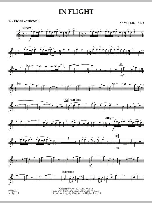 In Flight - Eb Alto Saxophone 1 (Concert Band)