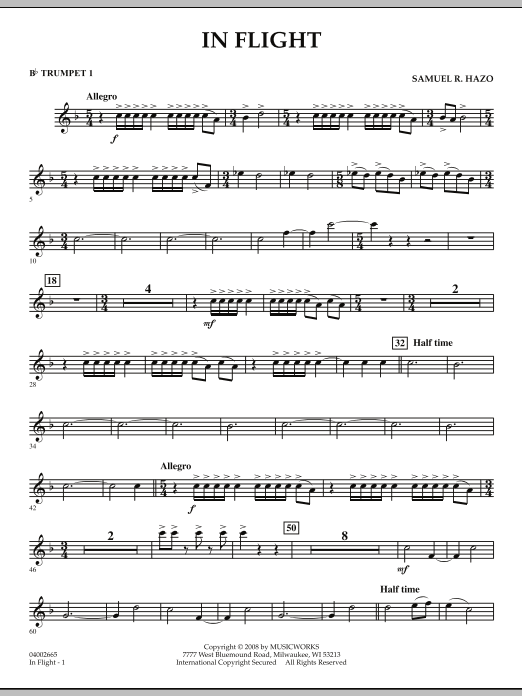 In Flight - Bb Trumpet 1 (Concert Band)