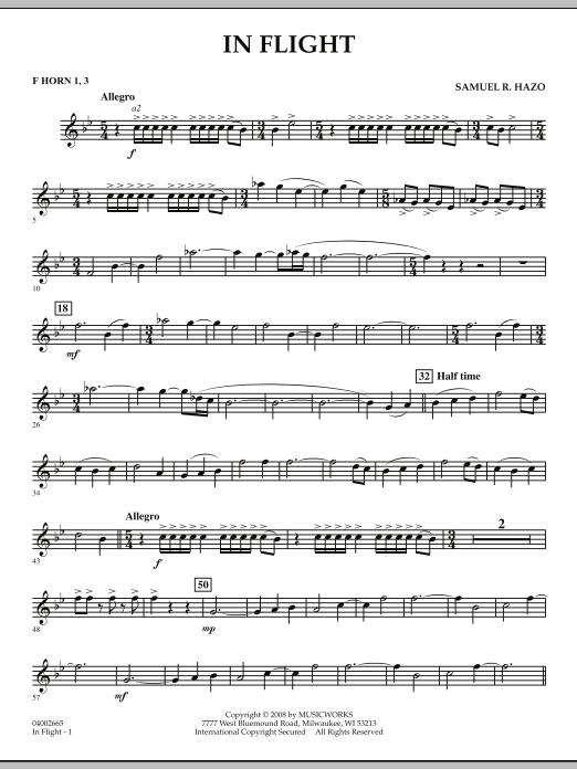 In Flight - F Horn 1,3 (Concert Band)