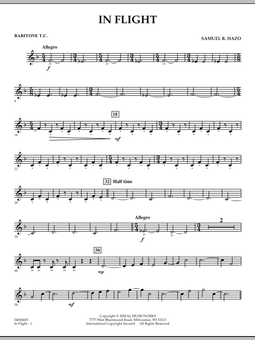 In Flight - Baritone T.C. (Concert Band)