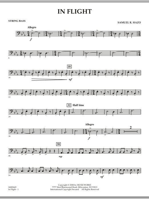 In Flight - String Bass (Concert Band)