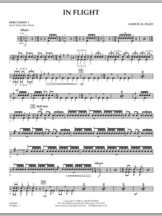 In Flight - Percussion 1 (Concert Band)
