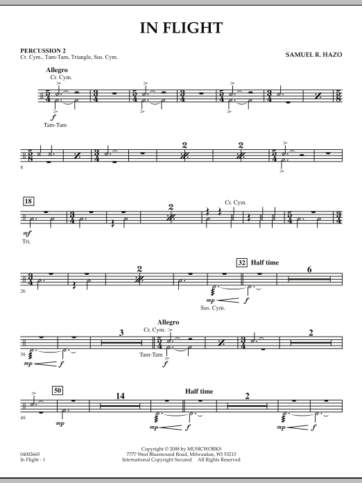 In Flight - Percussion 2 (Concert Band)