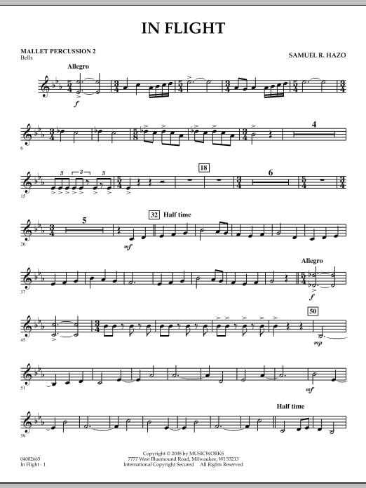 In Flight - Mallet Percussion 2 (Concert Band)