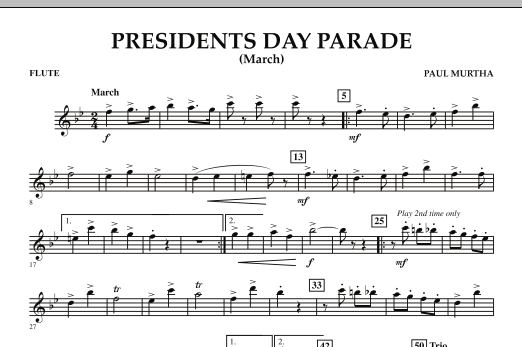 Presidents Day Parade (March) - Flute (Concert Band)
