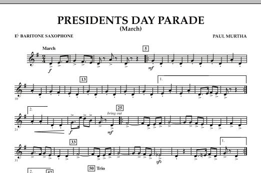 Presidents Day Parade (March) - Eb Baritone Saxophone (Concert Band)
