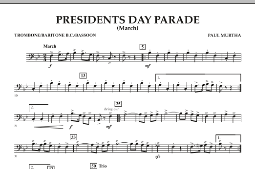 Presidents Day Parade (March) - Trombone (Concert Band)