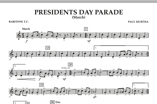 Presidents Day Parade (March) - Baritone T.C. (Concert Band)
