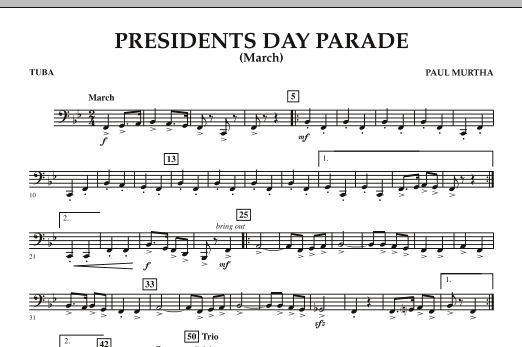 Presidents Day Parade (March) - Tuba (Concert Band)