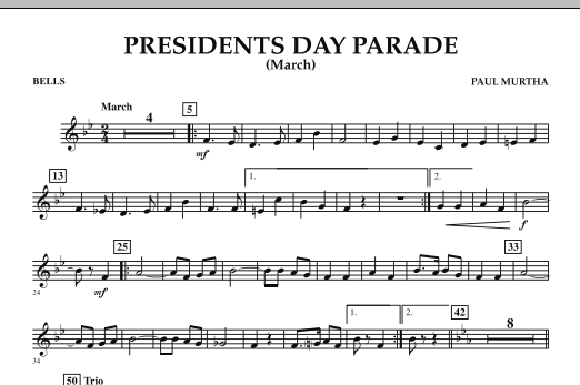 Presidents Day Parade (March) - Bells (Concert Band)