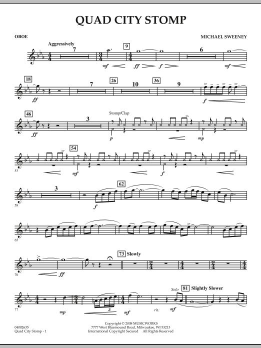 Quad City Stomp - Oboe (Concert Band)