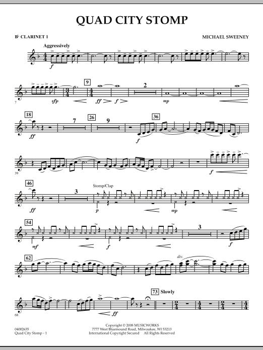 Quad City Stomp - Bb Clarinet 1 (Concert Band)
