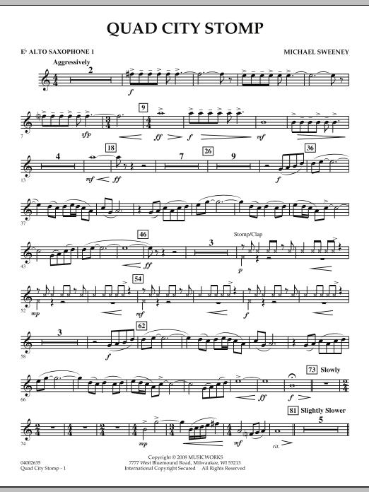 Quad City Stomp - Eb Alto Saxophone 1 (Concert Band)