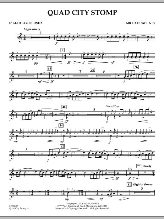 Quad City Stomp - Eb Alto Saxophone 2 (Concert Band)