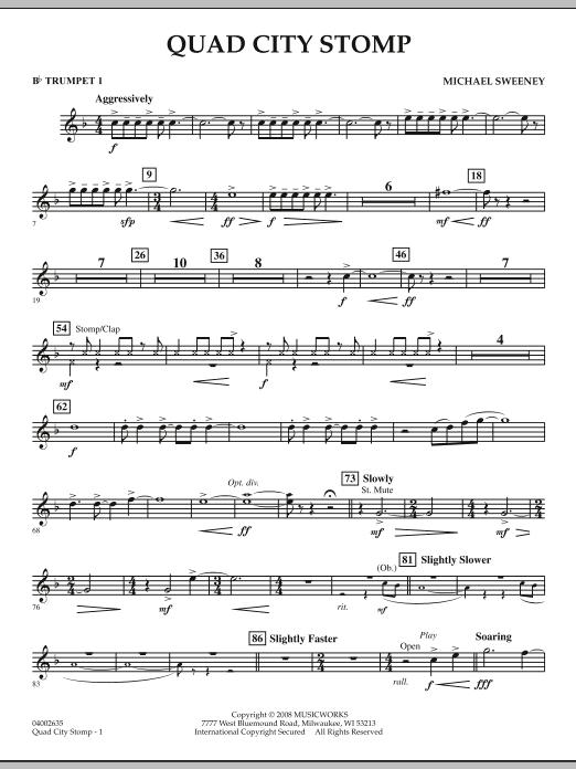 Quad City Stomp - Bb Trumpet 1 (Concert Band)