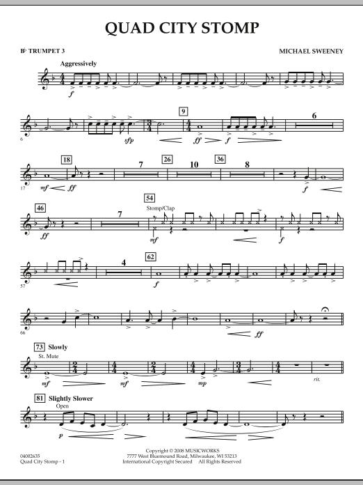 Quad City Stomp - Bb Trumpet 3 (Concert Band)