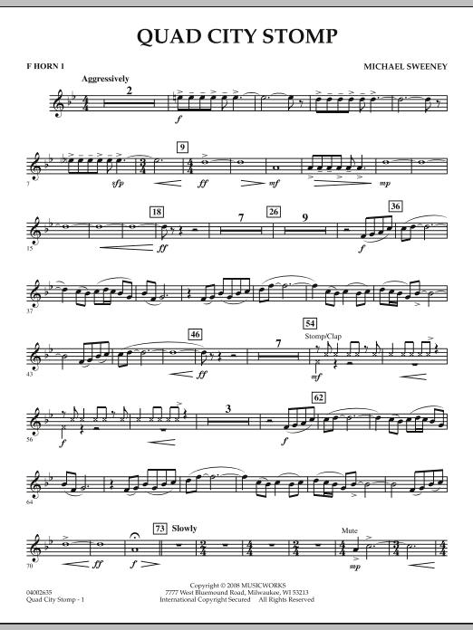 Quad City Stomp - F Horn 1 (Concert Band)