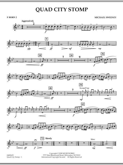 Quad City Stomp - F Horn 2 (Concert Band)