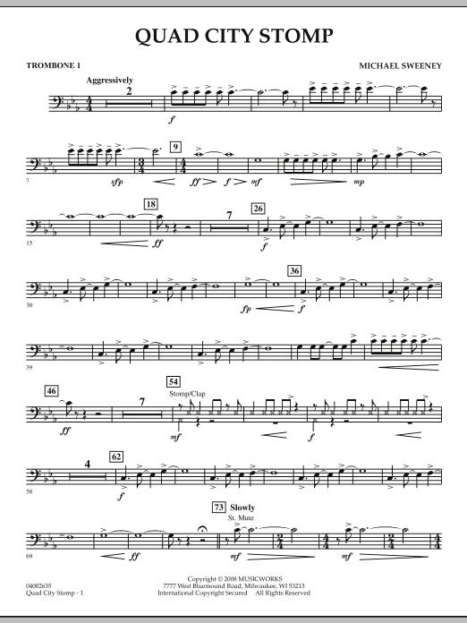 Quad City Stomp - Trombone 1 (Concert Band)