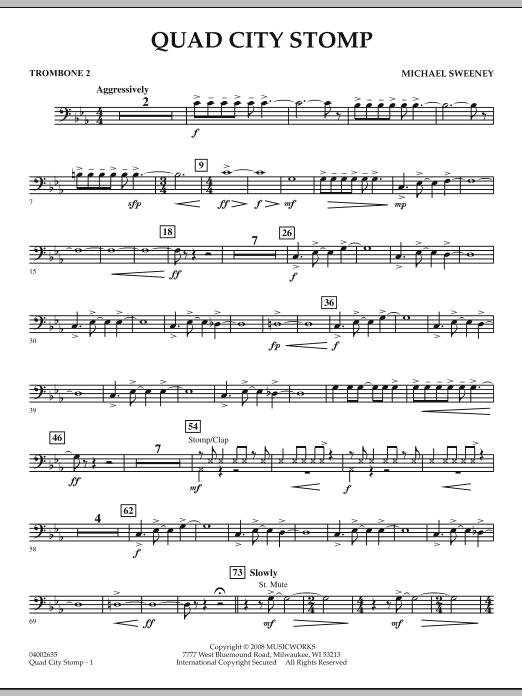 Quad City Stomp - Trombone 2 (Concert Band)