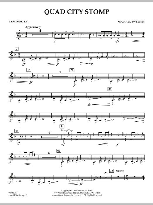 Quad City Stomp - Baritone T.C. (Concert Band)
