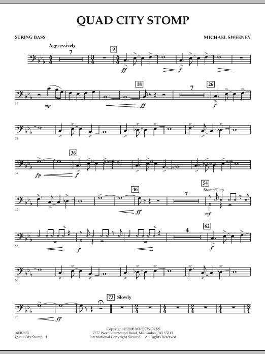 Quad City Stomp - String Bass (Concert Band)