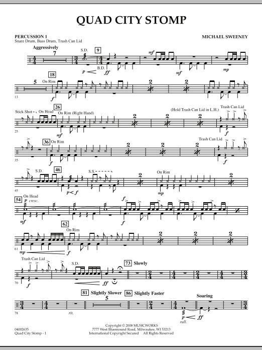 Quad City Stomp - Percussion 1 (Concert Band)